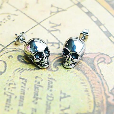 How to Look Super Cool and Badass with Skull Earrings