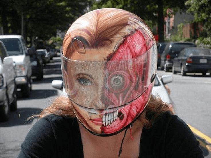 16 Crazy Motorcycle Helmets in 2021