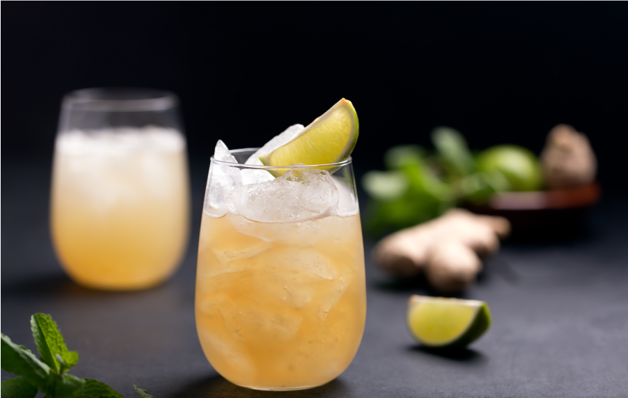 Spiced Rhubarb & Ginger Gin Cocktail
