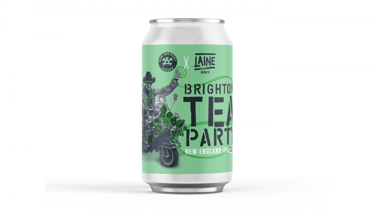BRIGHTON TEA PARTY NEIPA - 5.2% - COLLABS - LAINE X GUN BREWERY