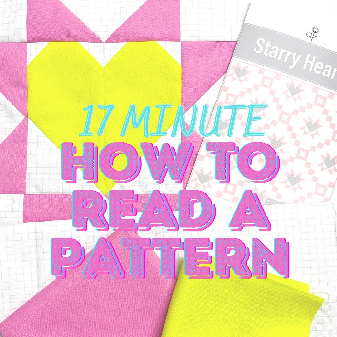Week One plus How to Read a Pattern!