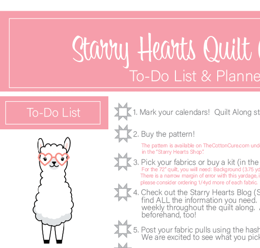 Starry Hearts Printable To-Do List & Planner *Revised*