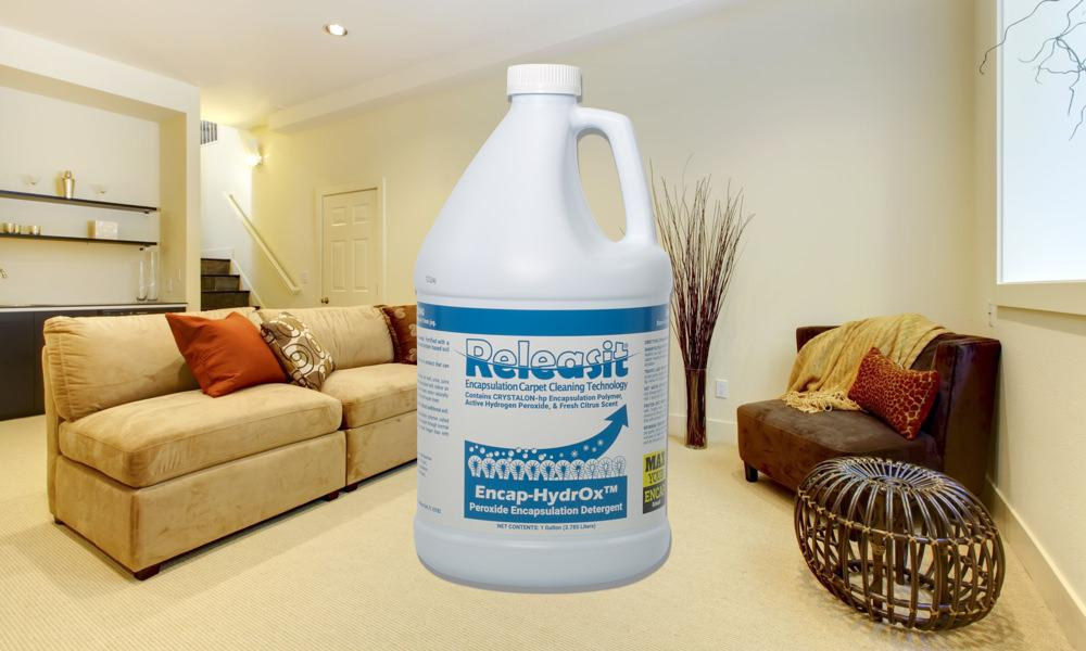 Hydrogen peroxide encapsulation for Residential Carpet cleaning