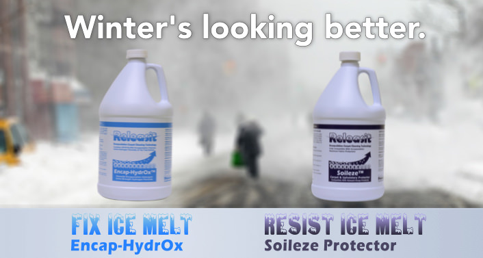 Encap-HydrOx for treating Ice Melt removal and other conditions that responds well to hydrogen peroxide