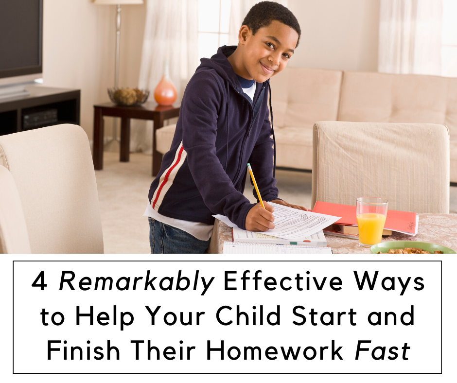 4 Effective Ways to Help Your Child Finish Their Homework Fast