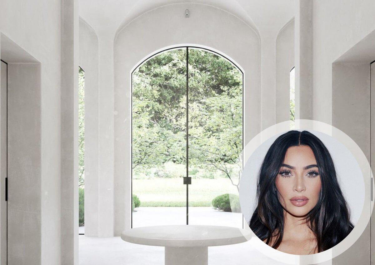 Kim Kardashian All-White Minimalist Mansion: Home Inspo