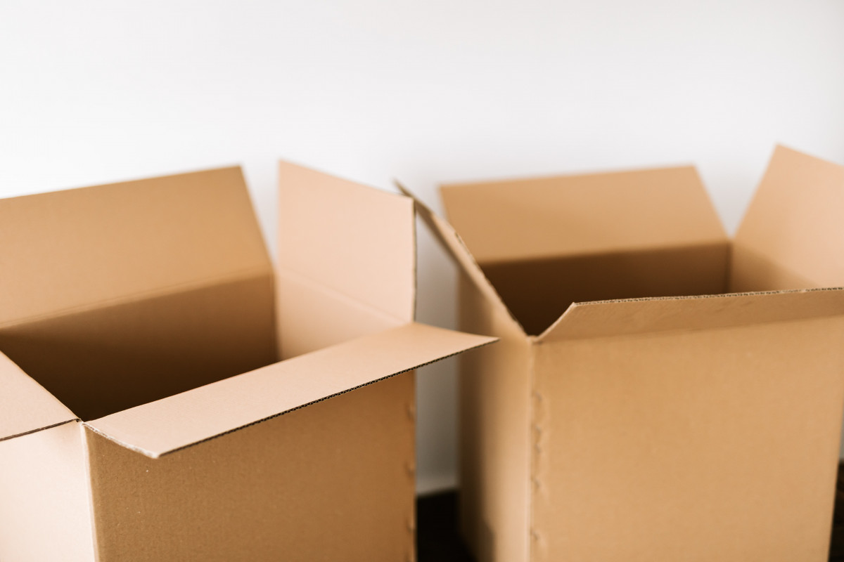 a photo of two moving boxes