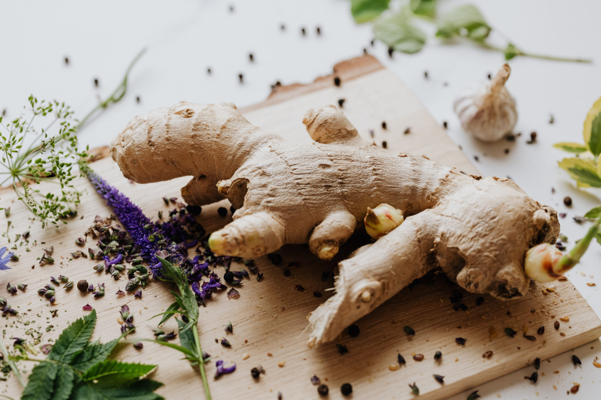 a photo of ginger root