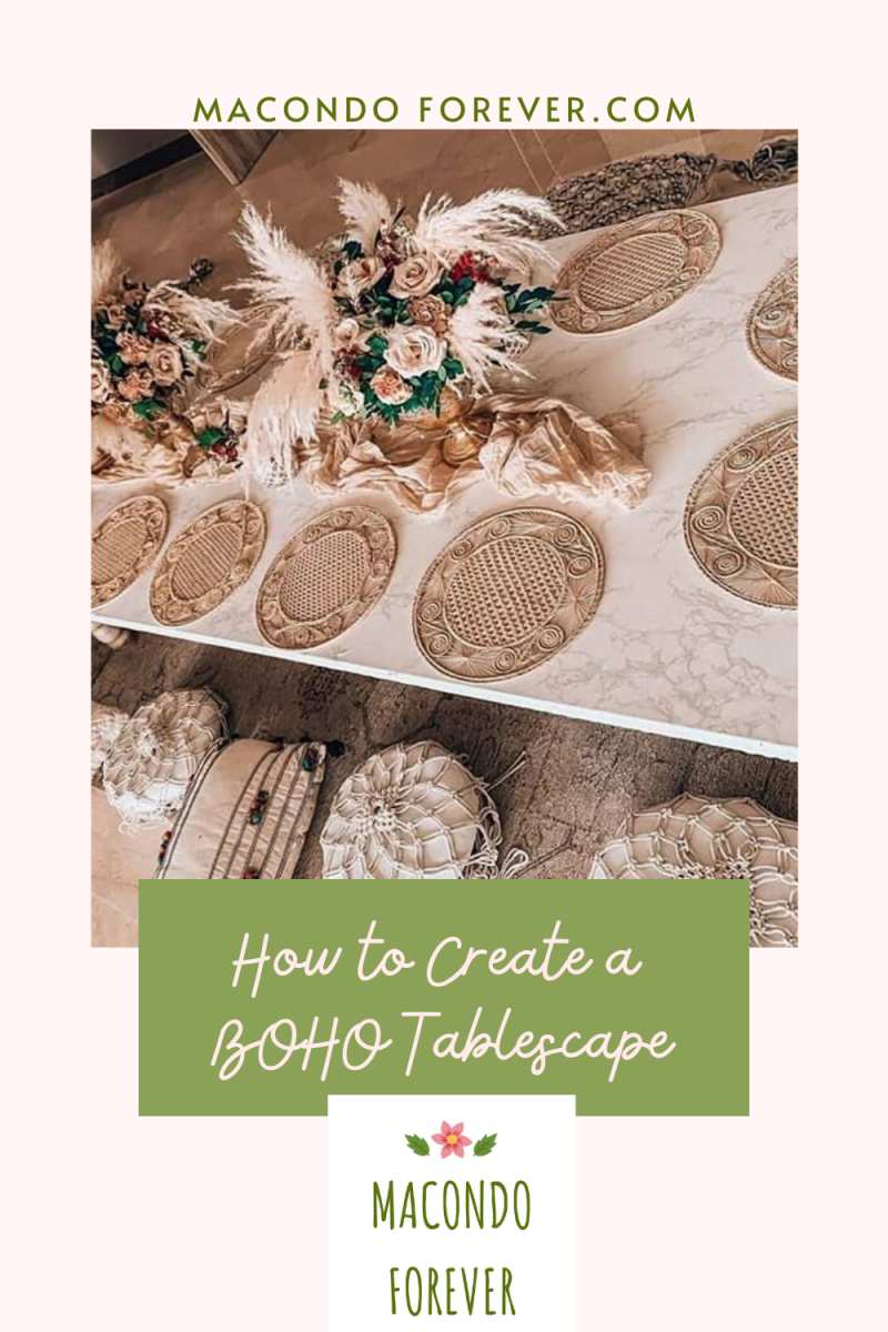 Pin this image   How to create a Boho Tablescape