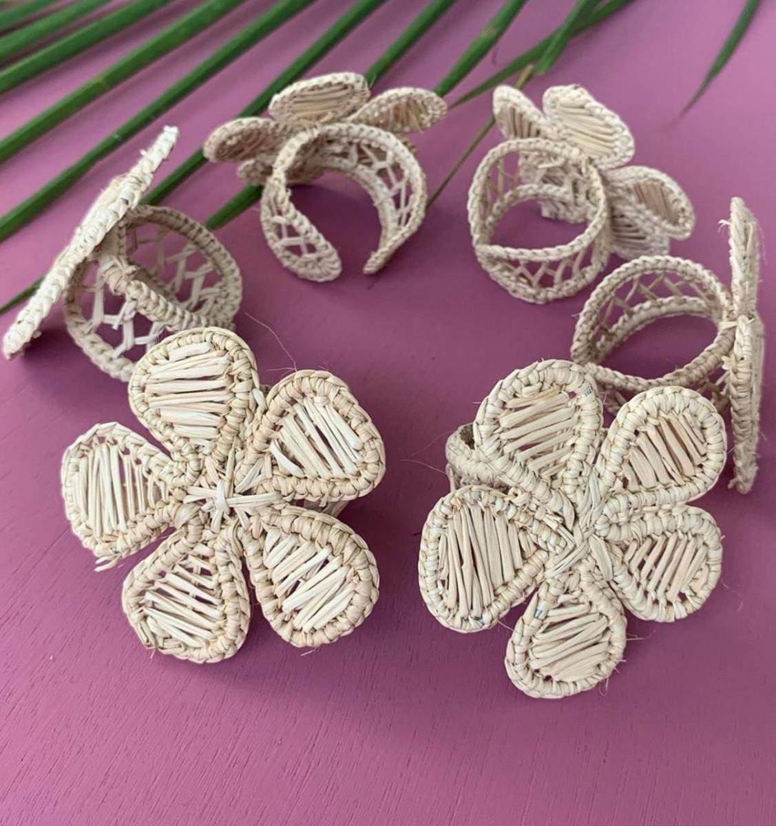 Iraca Woven Napkin Rings
