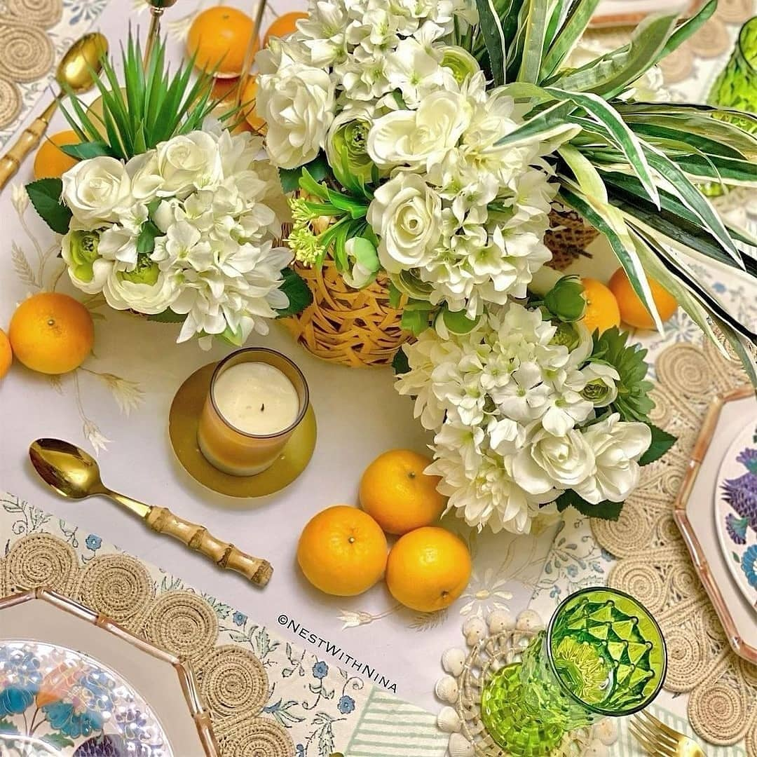Table Settings with Iraca Woven Placemats