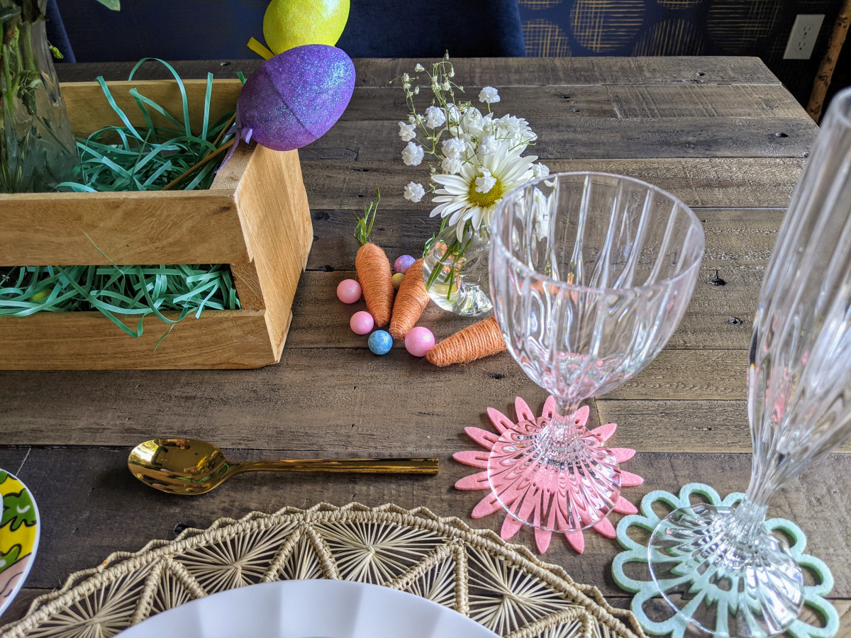 Spring decor accessories from the Dollar Store