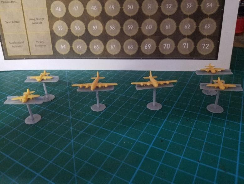 Axis and Allies 3D printed planes