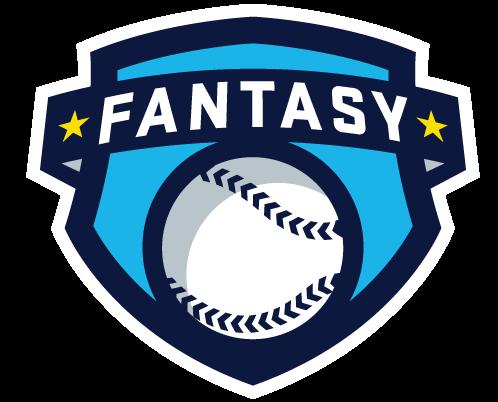 "Fan made fantasy baseball logo. A shield with a baseball graphic, and a banner that says ""fantasy"""