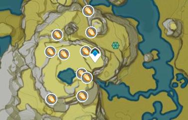 Yellow Item: Cor Lapis map