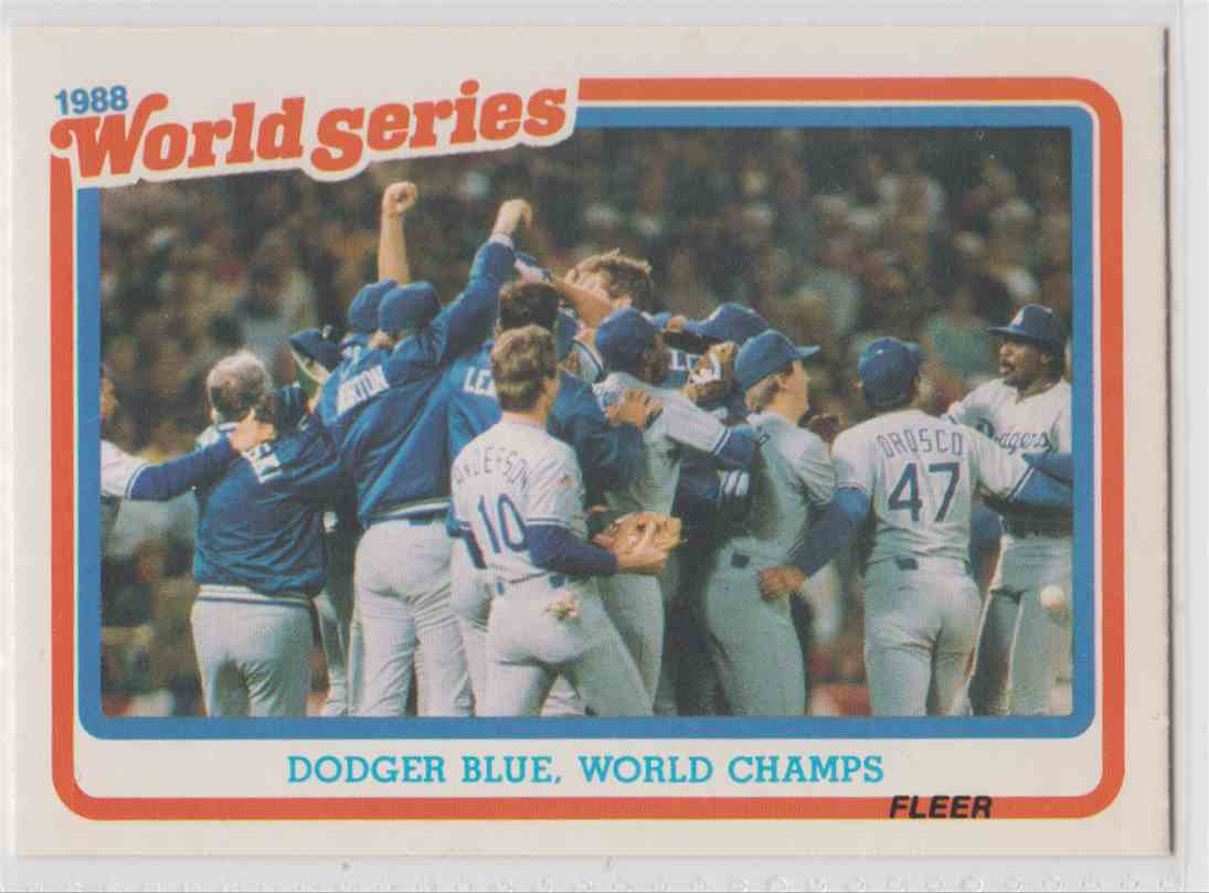 Comparing the Dodgers 1989 season to the Upcoming Season
