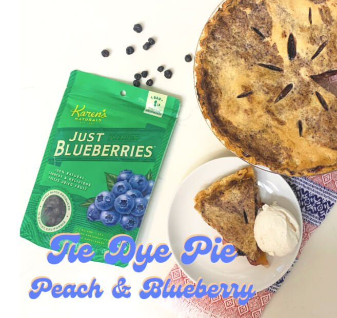 Tie Dye Pie - Blueberry and Peach