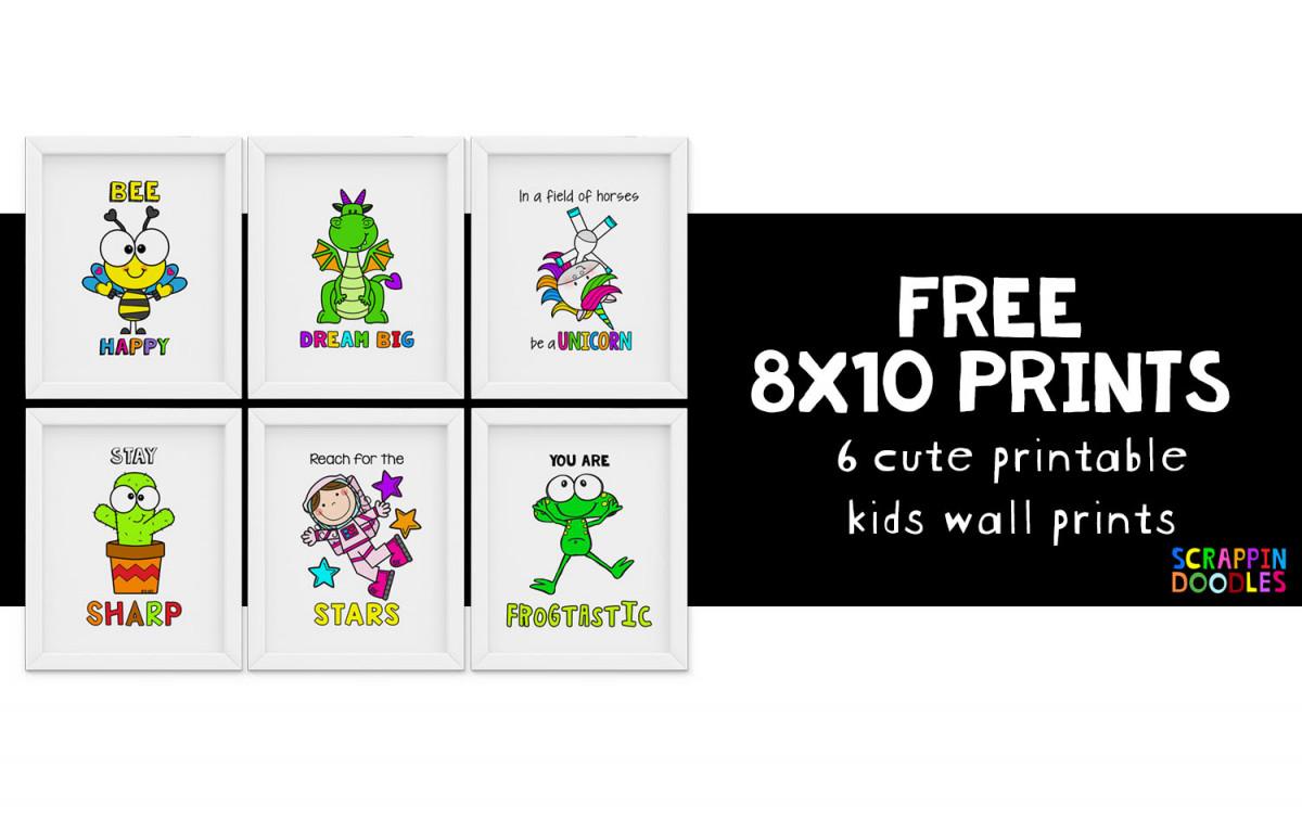 FREE 8x10 Kids Wall Prints