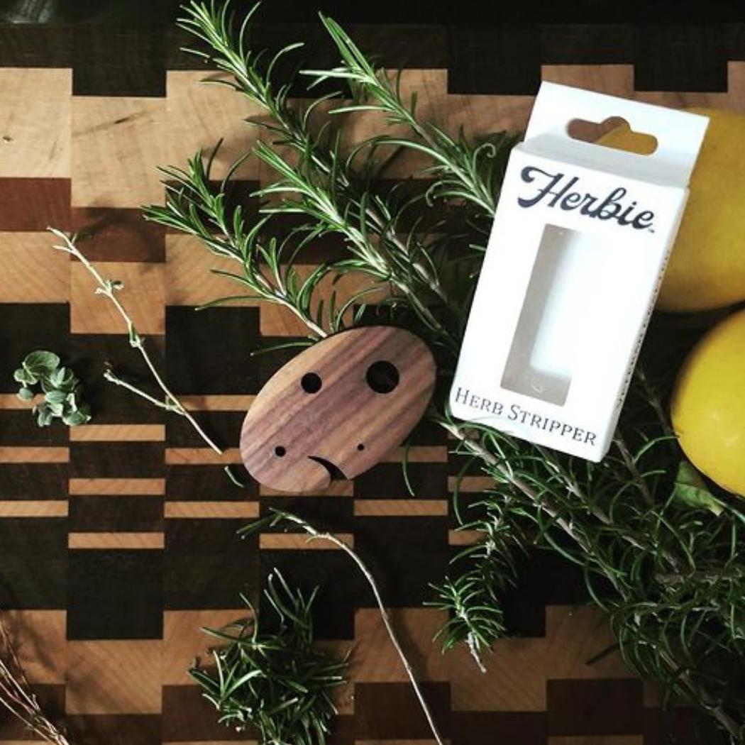 Herbie the wooden herb stripper