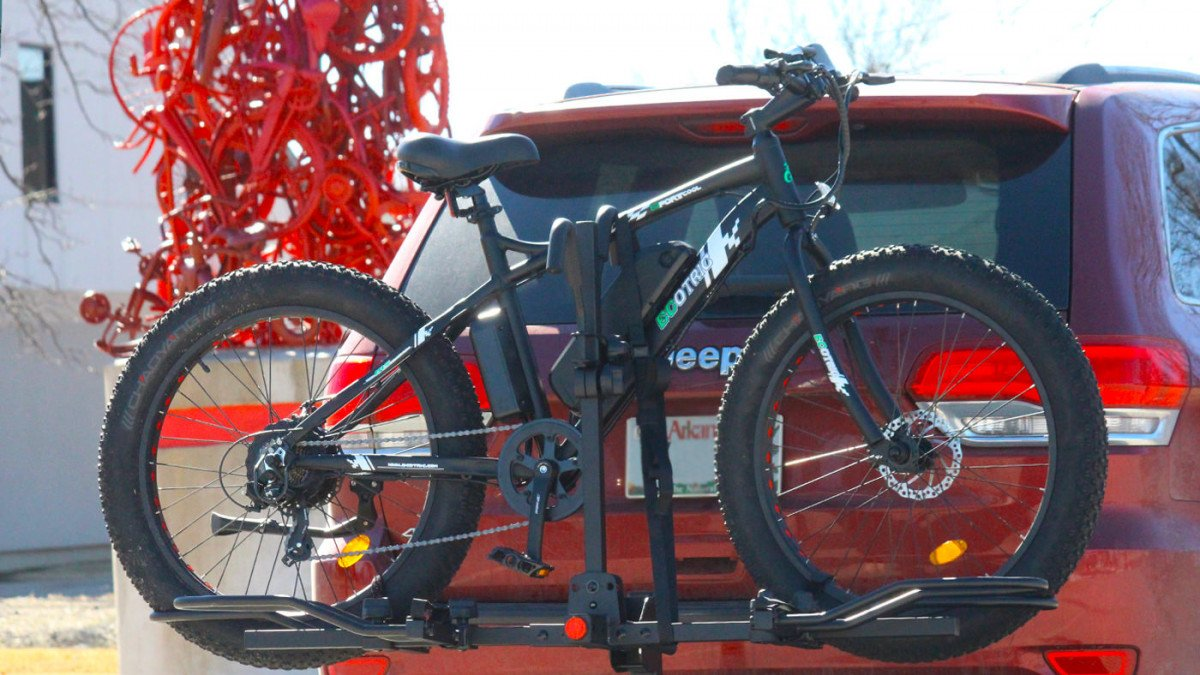 Ecotric Electric Bicycle Loaded on a KAC Overdrive Sports Ebike Rack