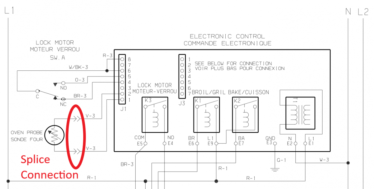 Tech sheet number 2 of control board and the other splice connection