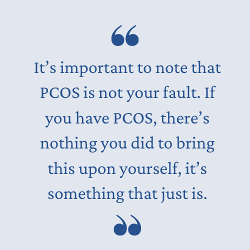 PCOS is not your fault
