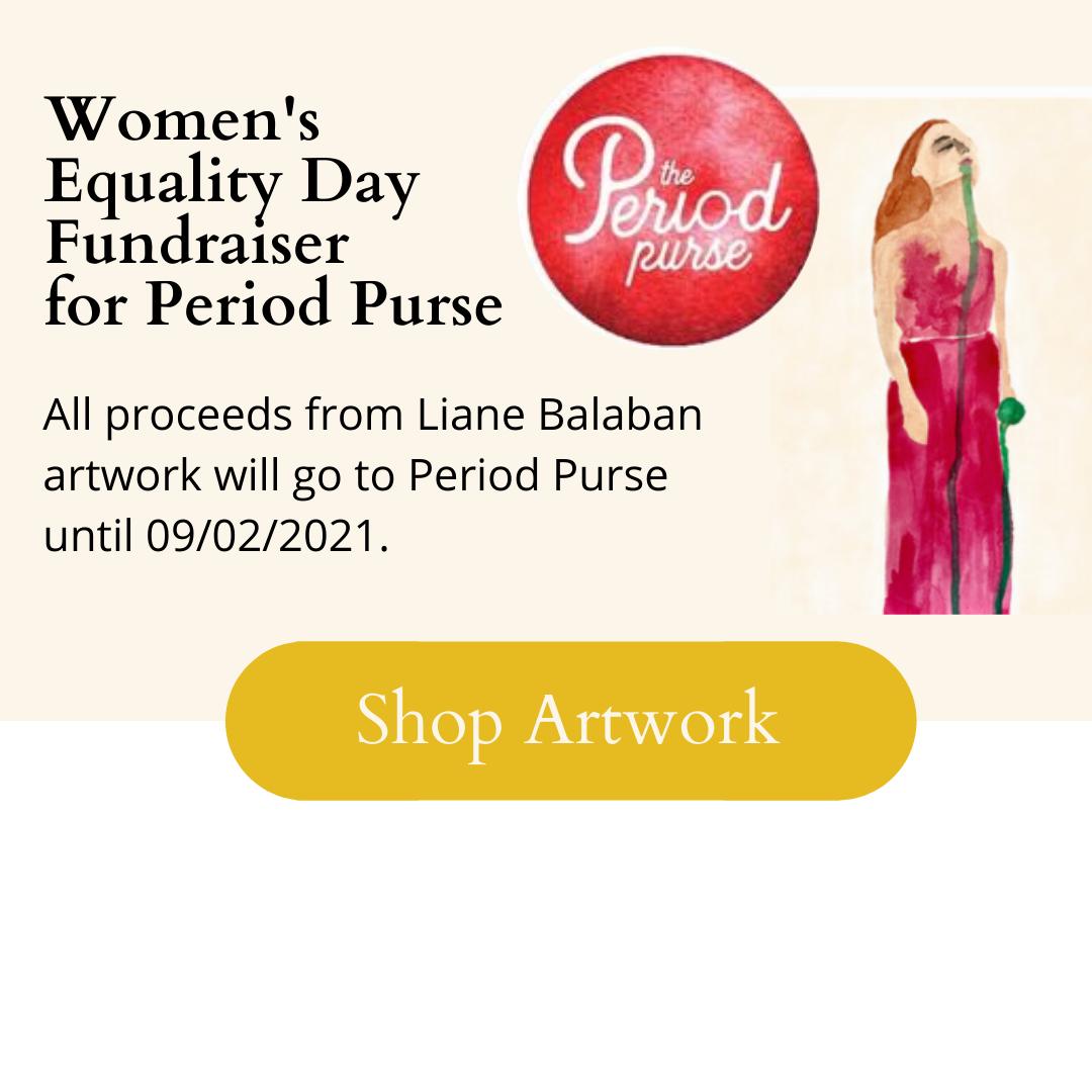 Liane Balaban fundraiser for period purse