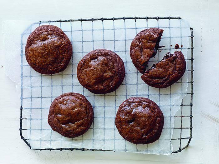 Guittard molten chocolate cookies