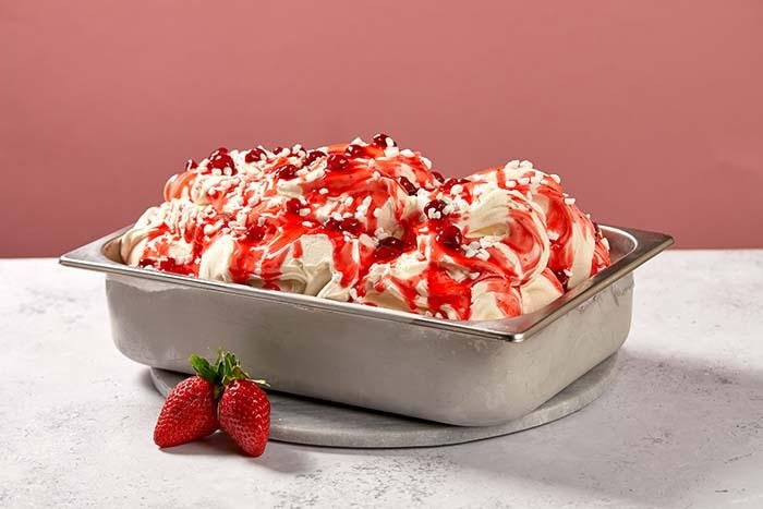 Strawberry Eton mess gelato