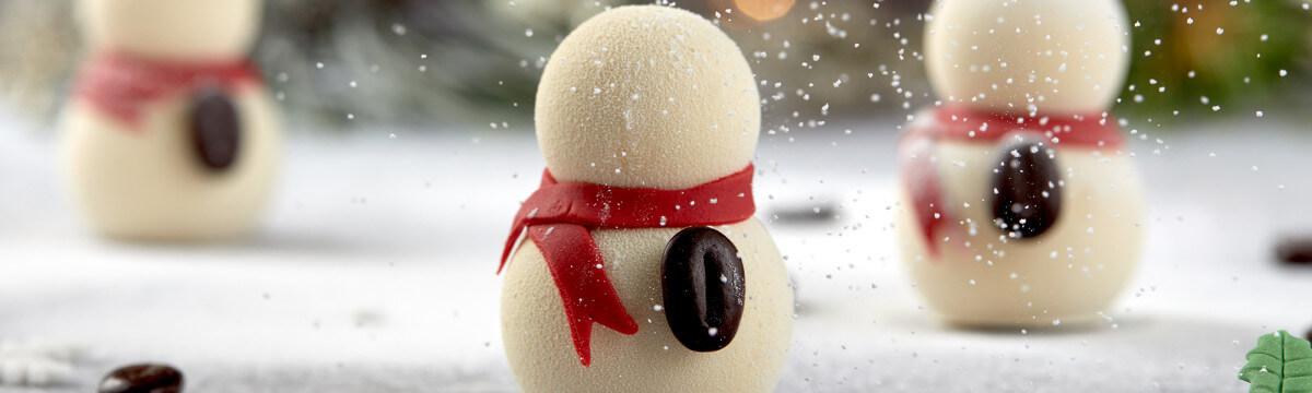 Gelato filled snowman