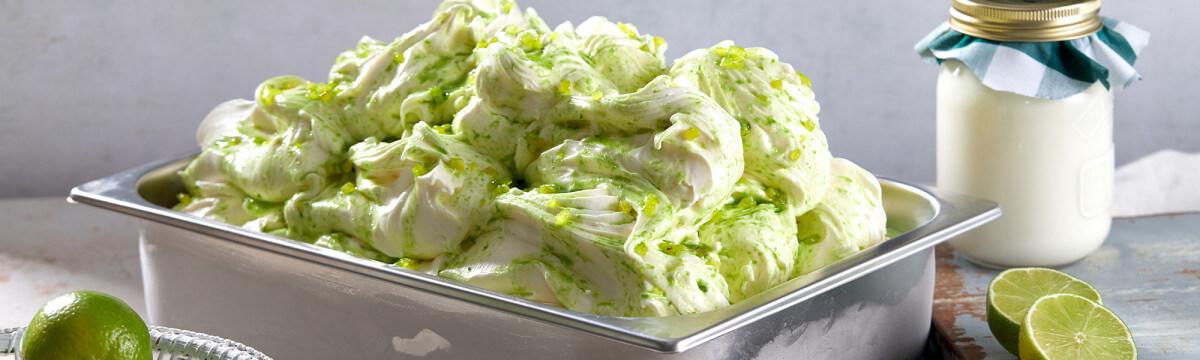 Kefir and lime gelato