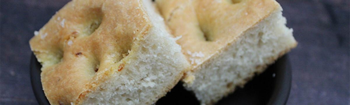 Truffle and garlic focaccia bread