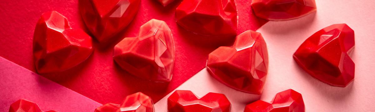 Valentines raspberry and rose pate de fruit