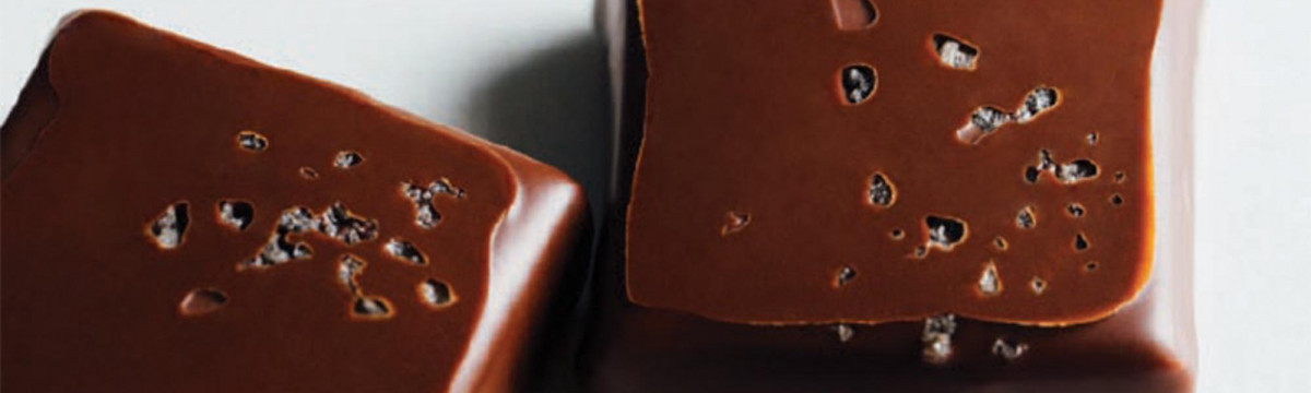 Vanilla and sea salt ganache chocolates