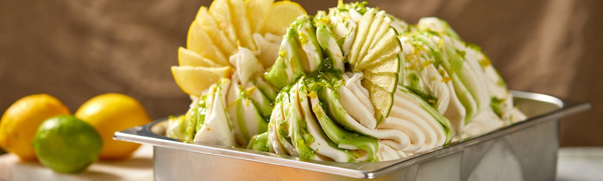 Vegan lemon and lime gelato