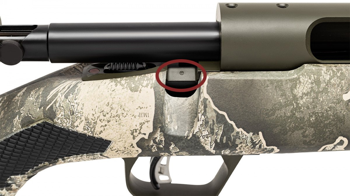 If your Model 110 has a mark on the bolt handle slot, it uses a #8-40 screws.