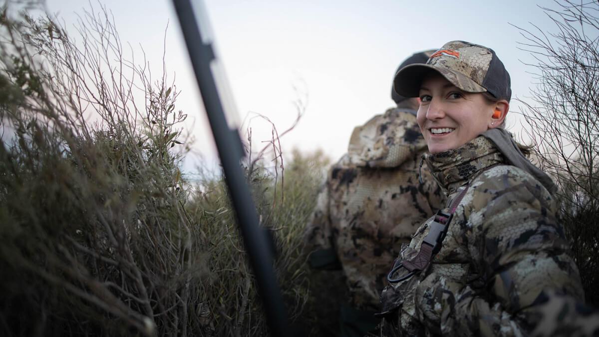 Sallie Doty is a new waterfowl hunter in South Dakota.