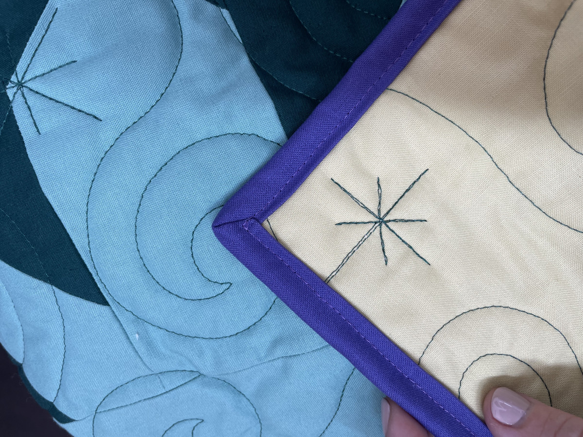 Piece Fabric Co. Binding Tutorial in photos