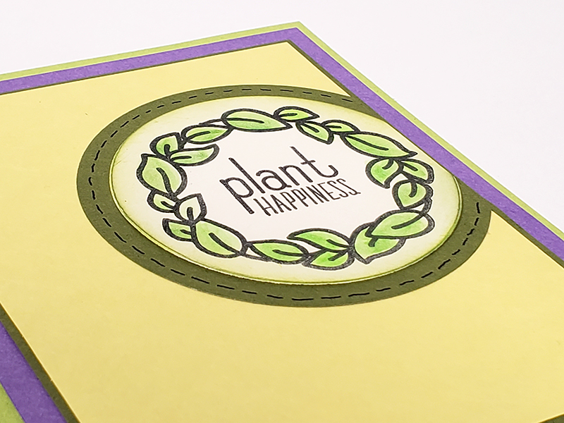 Stamped wreath with Club Scrap's Sprouts kit #clubscrap