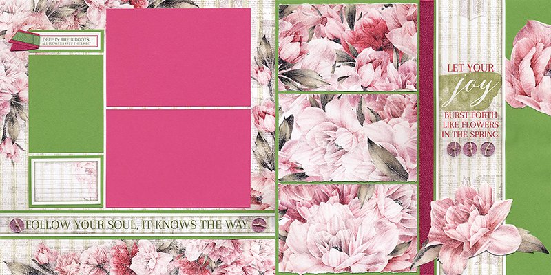 Peony Pages by Club Scrap #clubscrap