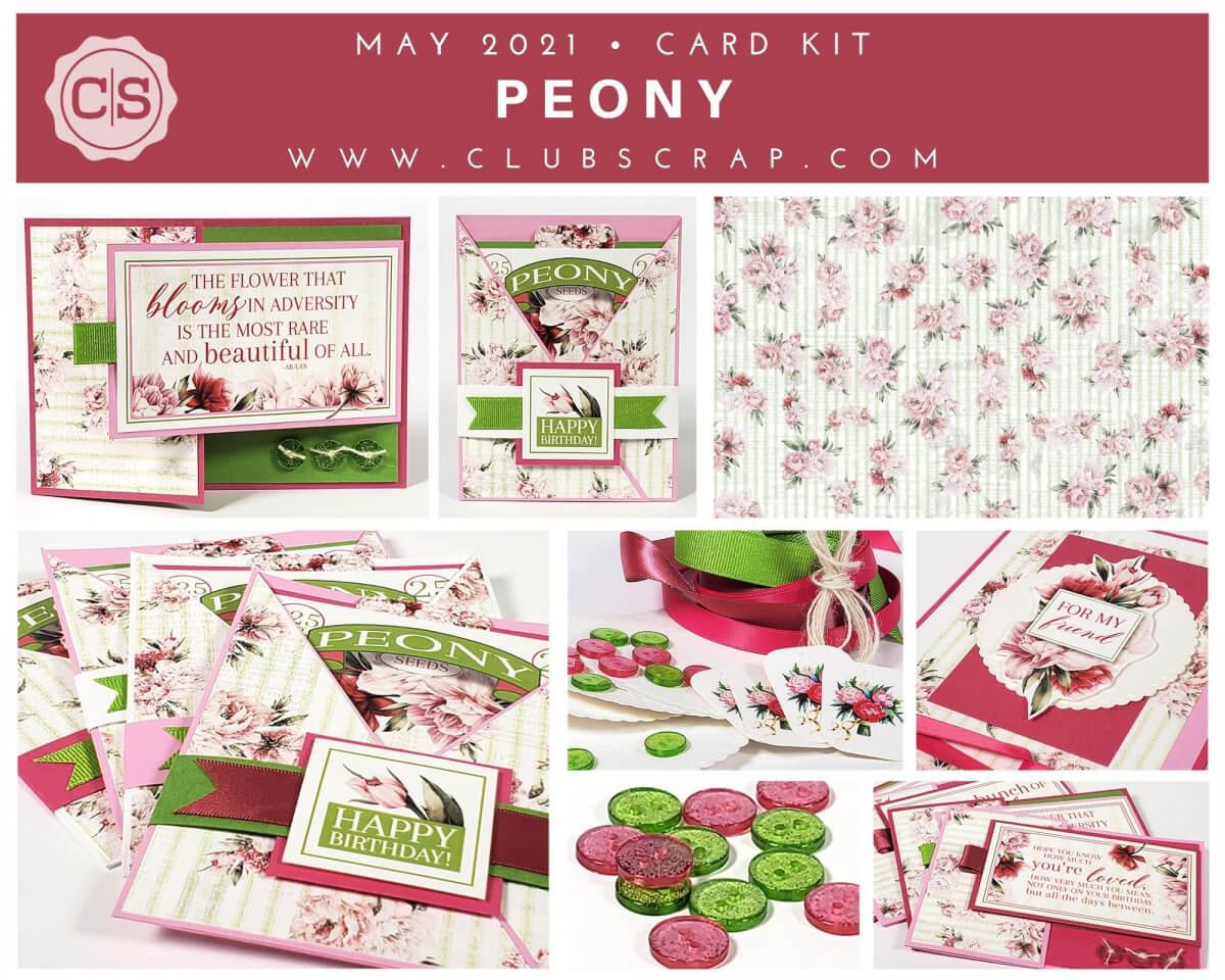 Peony Spoiler - Card Kit #clubscrap