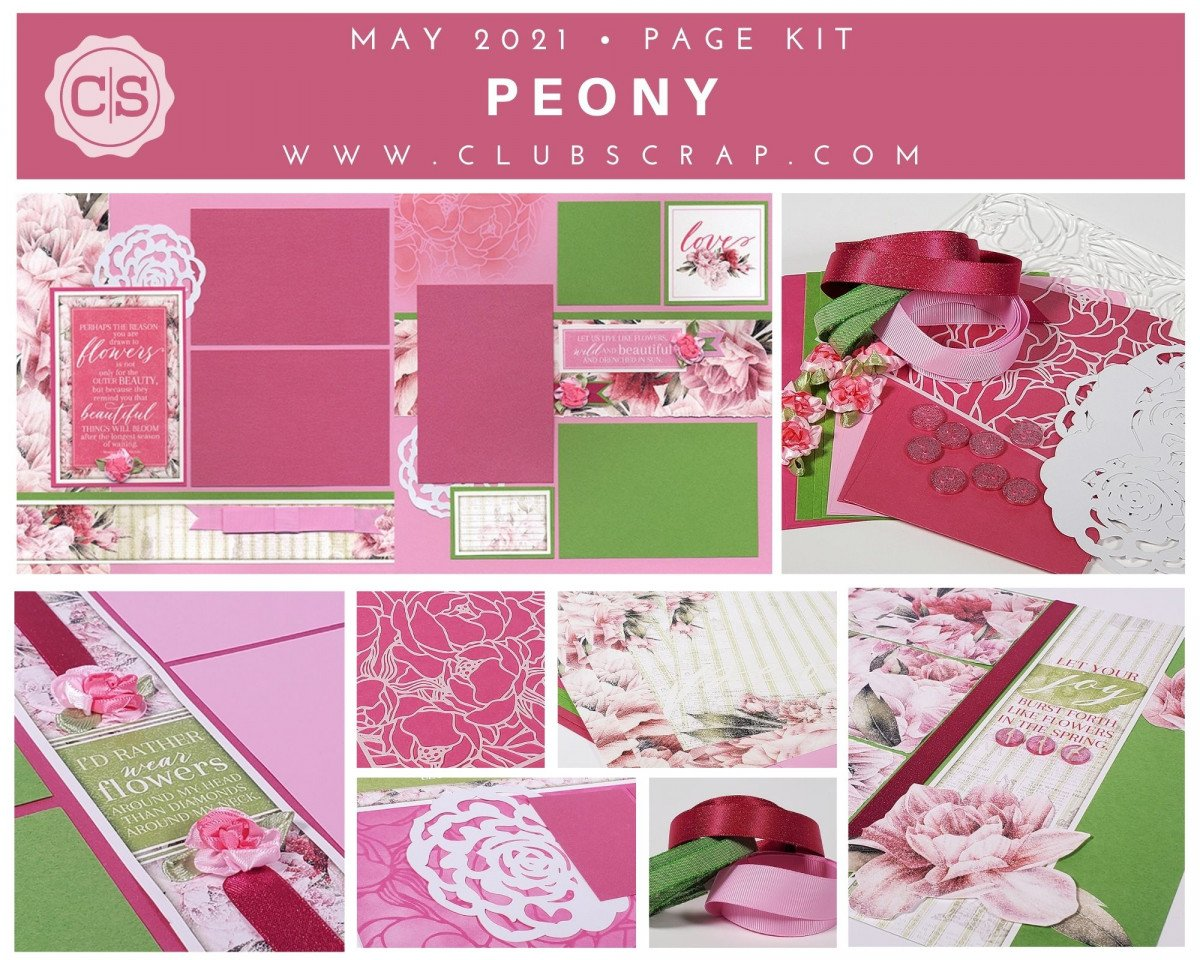 Peony Spoiler - Page Kit #clubscrap