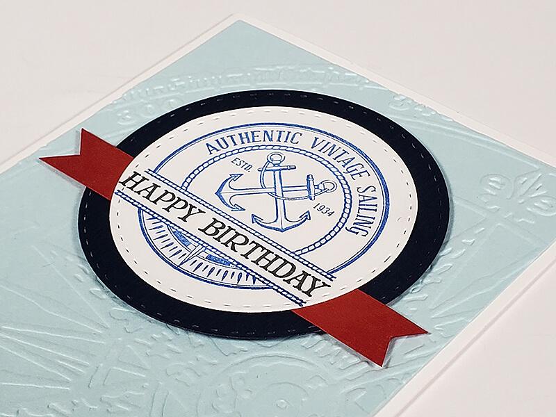 Regatta Stamps by Club Scrap #clubscrap #stamping #masculinecard