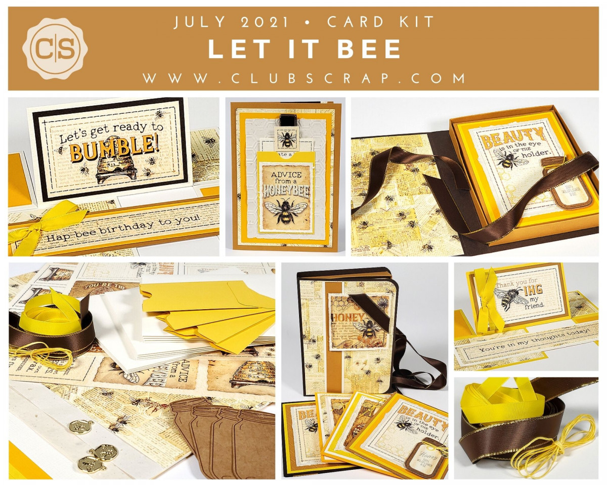 Let It Bee Spoiler - Card Kit by Club Scrap #clubscrap #cardmaking