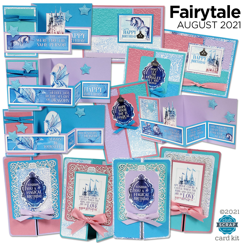 Fairytale Cards by Club Scrap #clubscrap #efficientcardmaking