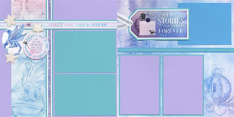 Fairytale Pages by Club Scrap #clubscrap #efficientscrapbooking
