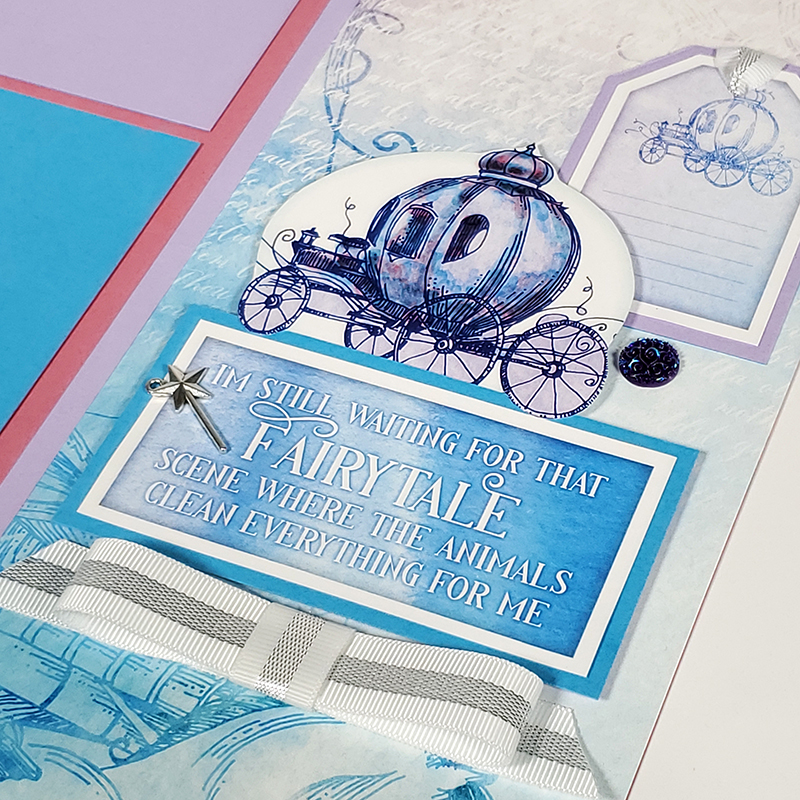 Fairytale Pages from Club Scrap #clubscrap #efficientscrapbooking