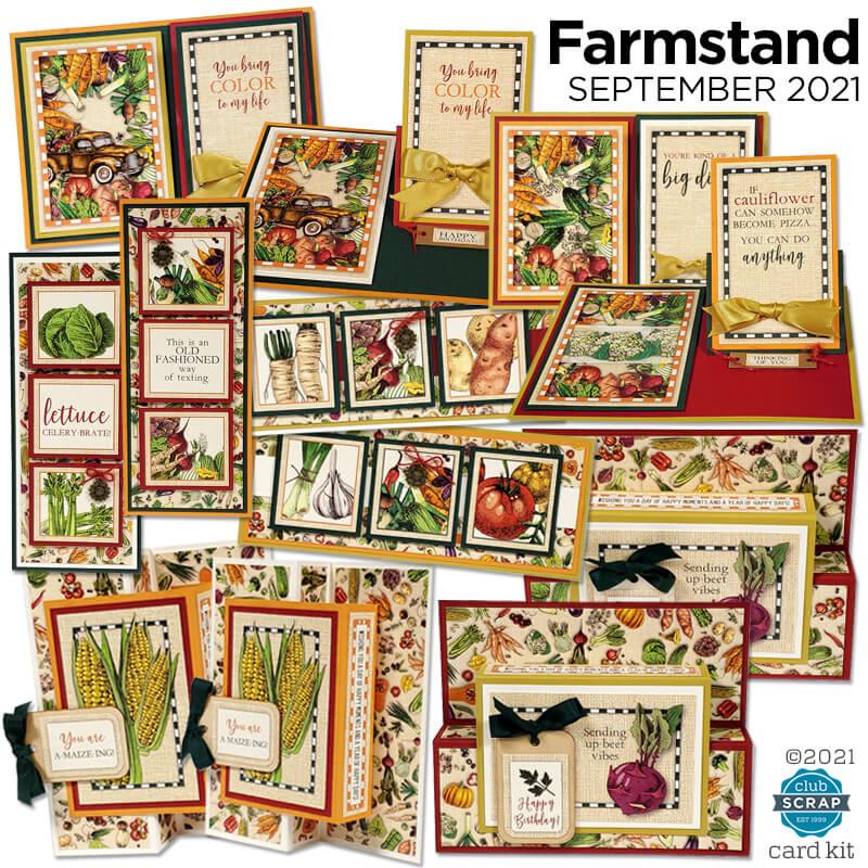 Farmstand Cards by Club Scrap #clubscrap #efficientcardmaking