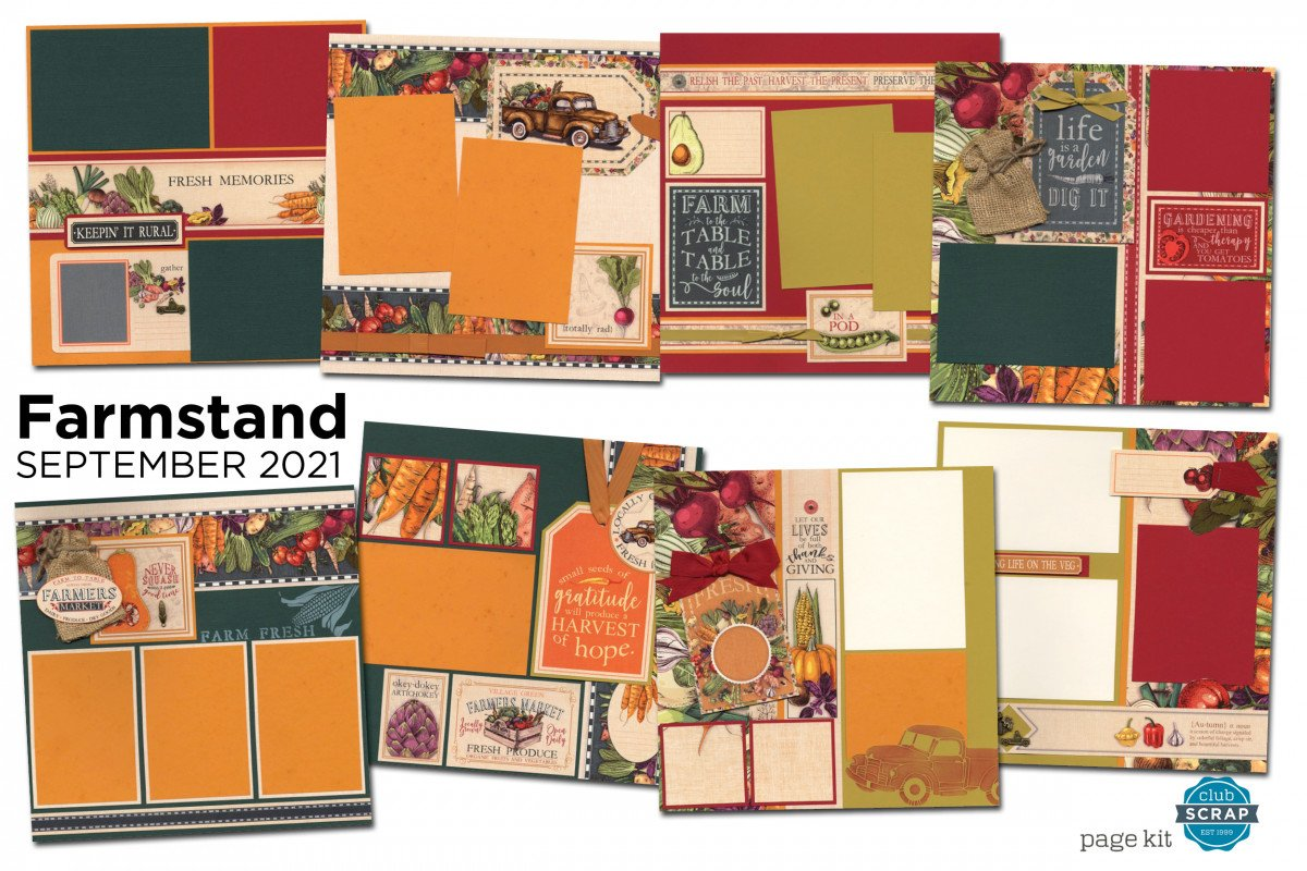 Farmstand Page Kit by Club Scrap #clubscrap