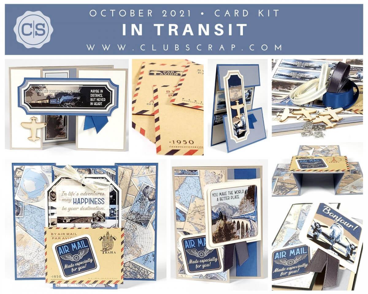 In Transit Spoiler - Card Kit by Club Scrap #clubscrap